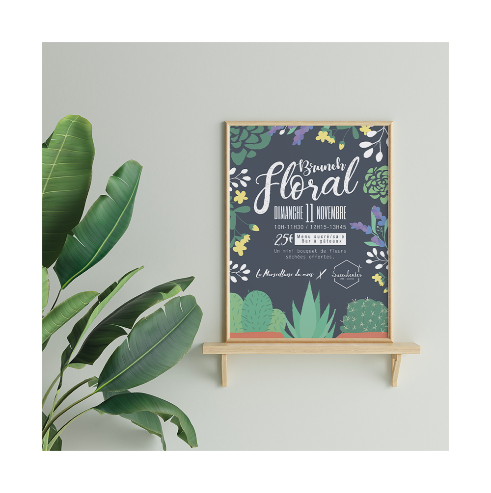 Couverture Brunch Floral
